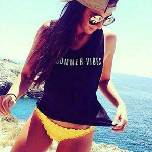 Top # SUMMER VIBES TANK TOP